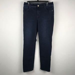 Calvin Klein Women Straight Leg Jeans Mid-Wash 10